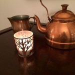 Kupfer -Teeset vintage und Teelicht von Lederleitner