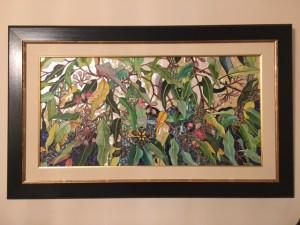 Kunstwerk von Margaret Wischemeyer Fried: Eukalyptus Technik: Acryl mit Perlmutt und Paua